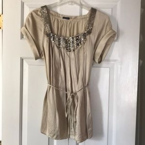 Gorgeous beaded silk top